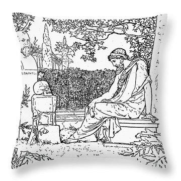 Plato (c427-c347 B.c.) Throw Pillow by Granger