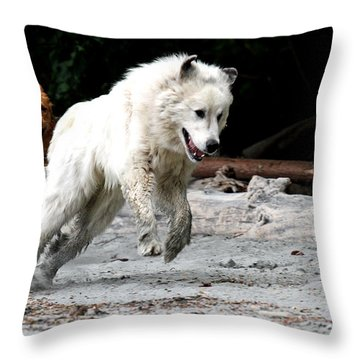 Play Time On The Beach Throw Pillow