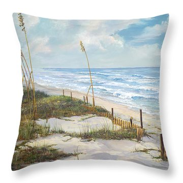 Throw Pillow featuring the painting Playalinda by AnnaJo Vahle