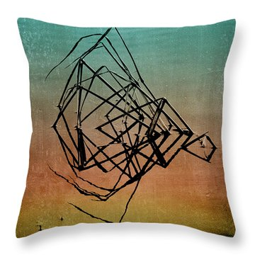 Playback Throw Pillow by Bonnie Bruno