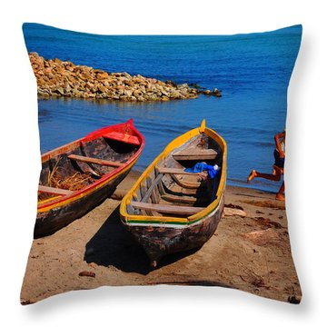 Playeros Throw Pillow by Skip Hunt