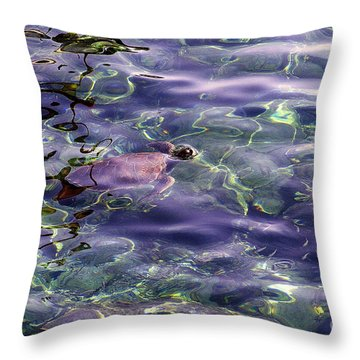 playing at Crete Throw Pillow