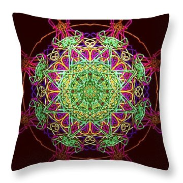 Playing Mandala Throw Pillow