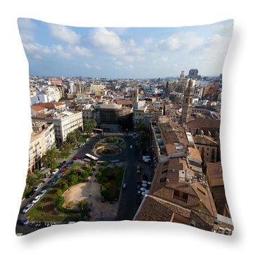 Plaza De La Reina Throw Pillow by Fabrizio Troiani
