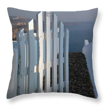 Please Come In Throw Pillow by Vivian Christopher