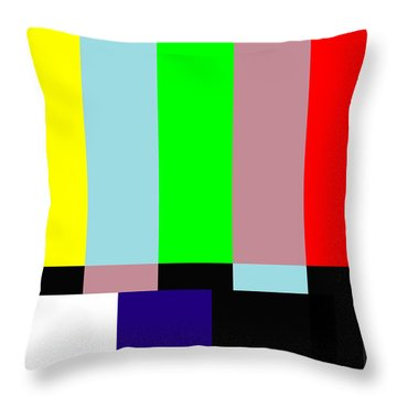 Please Stand By Throw Pillow by Saad Hasnain