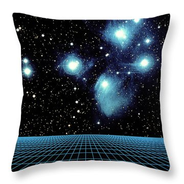 Pleiades In Taurus Throw Pillow by Science Source