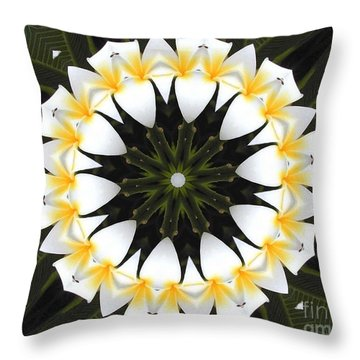 Plumeria 1 Throw Pillow
