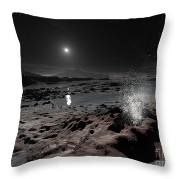 Pluto May Have Springs Of Liquid Oxygen Throw Pillow by Ron Miller