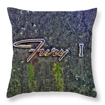 Plymouth Fury Logo Throw Pillow by Dan Stone