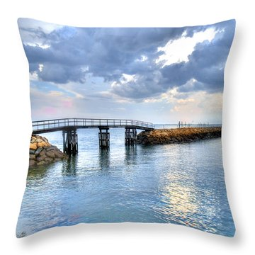 Plymouth Sunset Throw Pillow by Tammy Wetzel