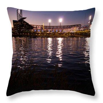 Pnc Park Sunset Throw Pillow by Kayla Yankovic