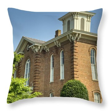 Pocahontas Arkansas Courthouse Throw Pillow by Douglas Barnett