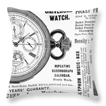 Pocket Watch, 1897 Throw Pillow by Granger