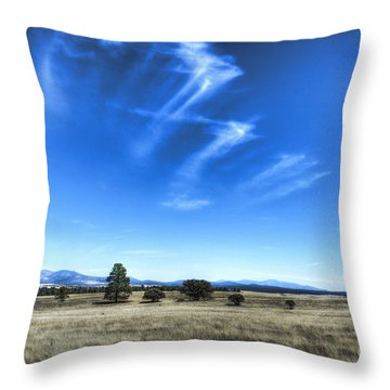 Point Of Pines - San Carlos Indian Reservation Throw Pillow