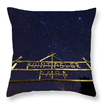 Point Pelee Under The Stars Throw Pillow by Cale Best
