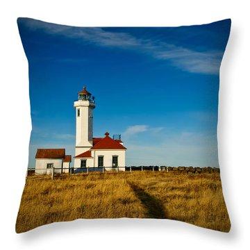 Point Wilson Lighthouse Throw Pillow by Dan Mihai