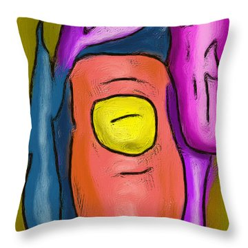Pointing Out Throw Pillow