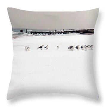 Polar Bird Club Throw Pillow