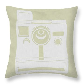 Polaroid Camera 3 Throw Pillow by Naxart Studio