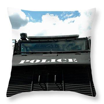 Police Force Throw Pillow by LeeAnn McLaneGoetz McLaneGoetzStudioLLCcom