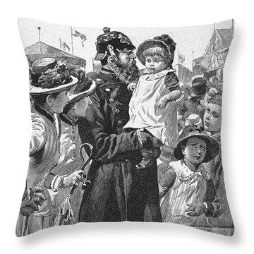 Policeman, 1885 Throw Pillow by Granger