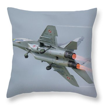 Polish Air Force Mig-29 Throw Pillow