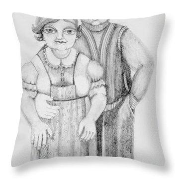 Polish Couple Throw Pillow