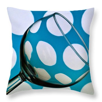 Throw Pillow featuring the photograph Polka Dot Glass by Steve Purnell