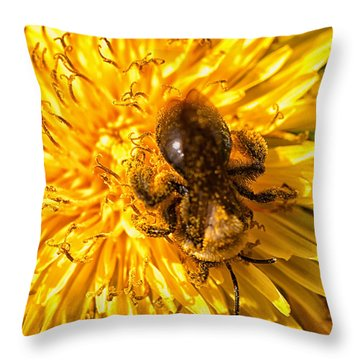 Pollinating Throw Pillow