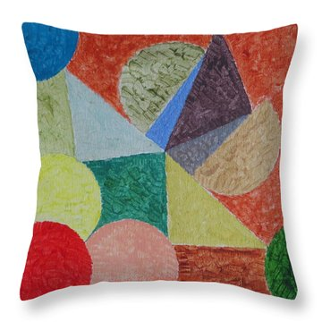 Throw Pillow featuring the painting Polychrome by Sonali Gangane