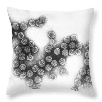 Polyoma Virus Sv40 Tem Throw Pillow