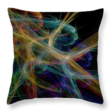 Throw Pillow featuring the digital art Polysynchronicity 1 by Kenneth Armand Johnson