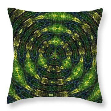 Throw Pillow featuring the digital art Pond Perfect by Alec Drake