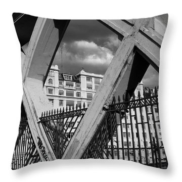 Pont Lafayette Paris Throw Pillow by Andrew Fare
