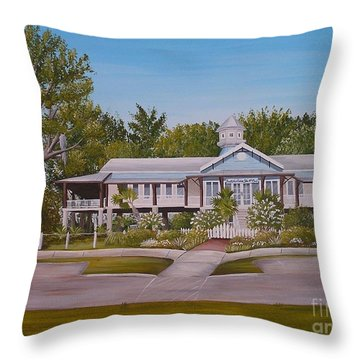Pontchartrain Yacht Club Throw Pillow