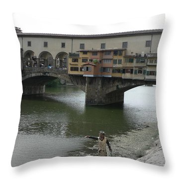 Throw Pillow featuring the photograph Ponte Vecchio by Laurel Best