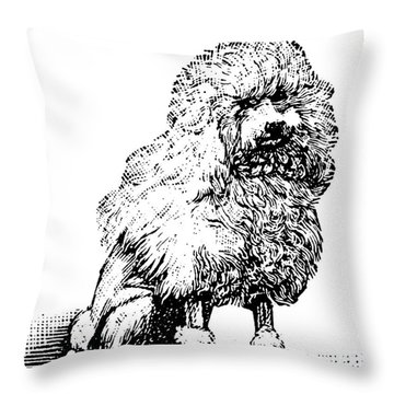 Poodle Throw Pillow by Granger