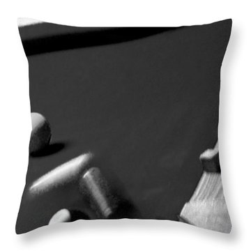 Pool Balls Throw Pillow by Chris Berry