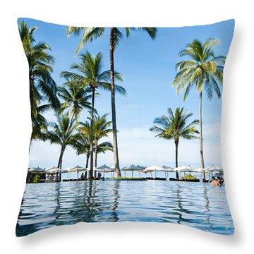 Poolside Throw Pillow by Atiketta Sangasaeng