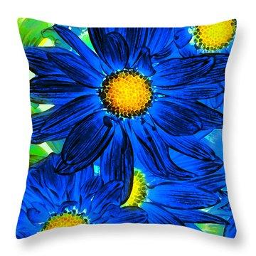 Pop Art Daisies 15 Throw Pillow by Amy Vangsgard