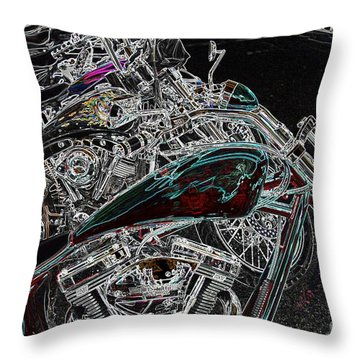 Pop Lock And Chop Throw Pillow