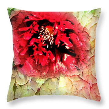 Poppy Kiss Throw Pillow by Svetlana Sewell