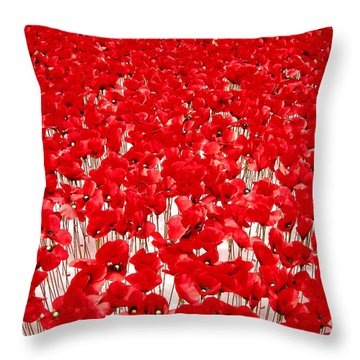 Poppy Meadow ... Throw Pillow by Juergen Weiss