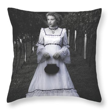 Porcelain Doll Throw Pillow by Joana Kruse