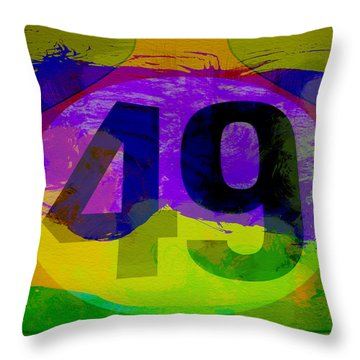 Porsche 911 Number 49 Throw Pillow
