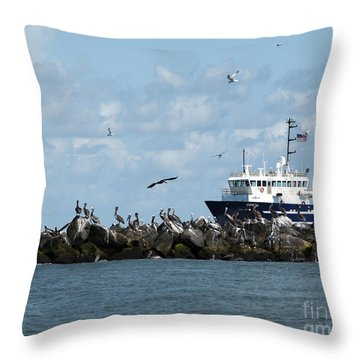 Port Fourchon Life Throw Pillow