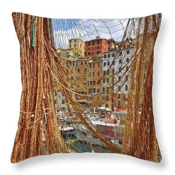 Port Of Camogli Throw Pillow by Joana Kruse