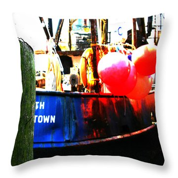 Throw Pillow featuring the photograph Port Of Galilee Number 1 by Lon Casler Bixby