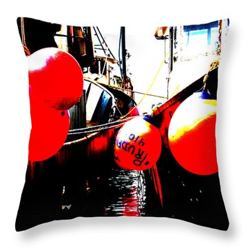 Throw Pillow featuring the photograph Port Of Galilee Number 2 by Lon Casler Bixby